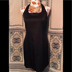 👄 BNWT EXPRESS SHINY BLACK DRESS MEDIUM 7 8